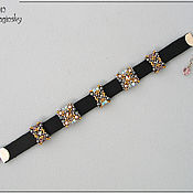 Украшения ручной работы. Ярмарка Мастеров - ручная работа Серо-розовый кожаный браслет. Handmade.