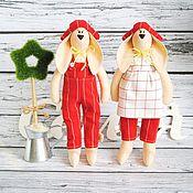 Куклы и игрушки ручной работы. Ярмарка Мастеров - ручная работа Тильда зайцы.. Handmade.