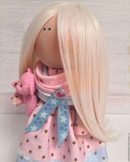 Коллекционные куклы ручной работы. Ярмарка Мастеров - ручная работа. Купить Звёздочка. Handmade. Бледно-розовый, сюрприз, атлас