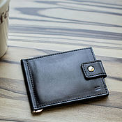 Сумки и аксессуары handmade. Livemaster - original item Standart genuine leather money clip (black). Handmade.