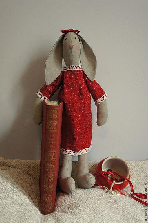 Куклы Тильды ручной работы. Ярмарка Мастеров - ручная работа. Купить Зая Ника. Handmade. Ярко-красный, текстильная игрушка