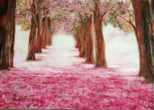 """Картины цветов ручной работы. Ярмарка Мастеров - ручная работа. Купить Картина маслом """" Там, в розовых мечтах..."""". Handmade."""