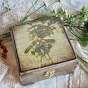 """Для дома и интерьера ручной работы. Ярмарка Мастеров - ручная работа шкатулка"""" Цветочная фея"""". Handmade."""
