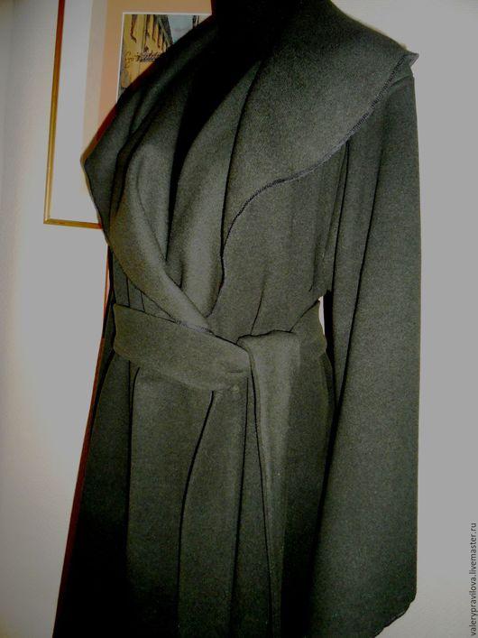 Верхняя одежда ручной работы. Ярмарка Мастеров - ручная работа. Купить Пальто шерстяное цвета папоротника. Handmade. Хаки