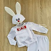 Одежда handmade. Livemaster - original item White Bunny costume children`s new year for a boy. Handmade.