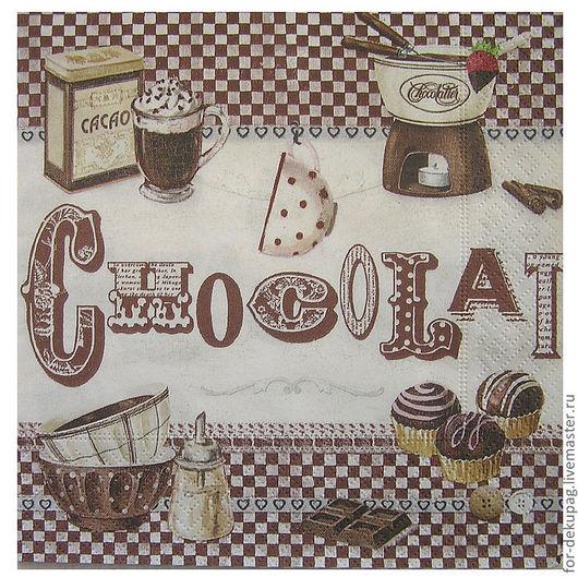 """1/4 салфетки """"Шоколад"""""""