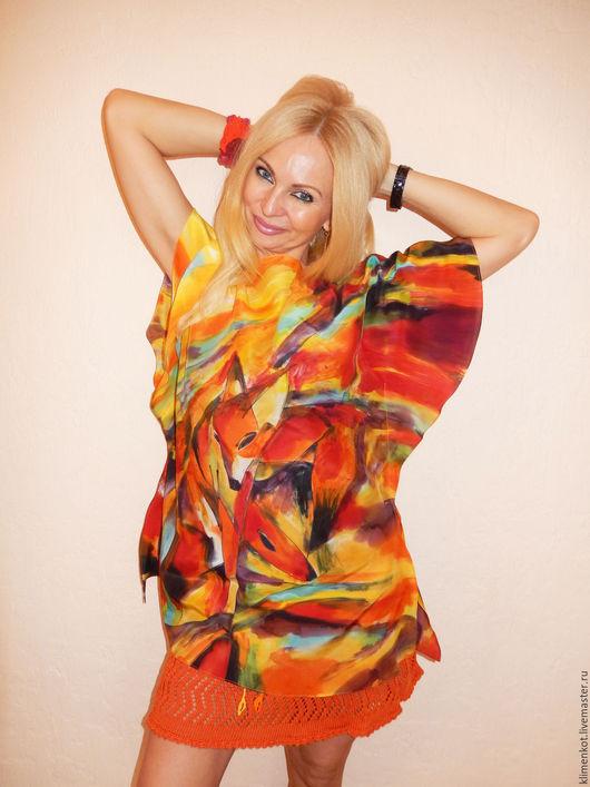 Блузки ручной работы. Ярмарка Мастеров - ручная работа. Купить блуза с крылышками -Лисичка. Handmade. Рыжий, хендмейд, лето, Праздник