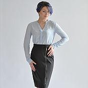 Одежда handmade. Livemaster - original item Skirt zip insulated black. Handmade.