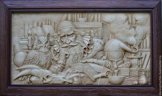 Репродукции ручной работы. Ярмарка Мастеров - ручная работа. Купить Алхимик. Handmade. Коричневый, деревянный, подарок мужчине