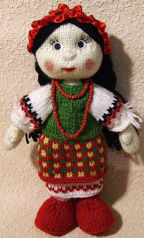 Народные куклы ручной работы. Ярмарка Мастеров - ручная работа. Купить Украиночка. Handmade. Авторская кукла, сувенир, ткань хлопок