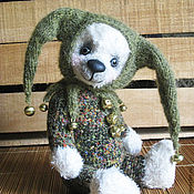 Куклы и игрушки ручной работы. Ярмарка Мастеров - ручная работа Мишка-арлекин Шарль. Handmade.