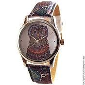 Украшения ручной работы. Ярмарка Мастеров - ручная работа Дизайнерские наручные часы Сова из Кружевных Узоров. Handmade.