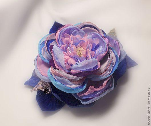 """Броши ручной работы. Ярмарка Мастеров - ручная работа. Купить Пион """"Винтаж-колор"""". Handmade. Яркий цветок, пион из ткани"""