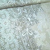 """Ткани ручной работы. Ярмарка Мастеров - ручная работа Ткань хлопок 100 % сатин премиум для постельного белья """"Гипюр шампань"""". Handmade."""
