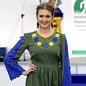 Одежда handmade. Livemaster - original item Dress linen BERRY. Handmade.