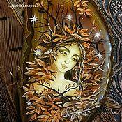 """Украшения ручной работы. Ярмарка Мастеров - ручная работа колье """"Дриада""""лаковая миниатюра. Handmade."""