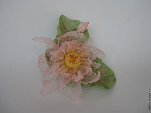 Цветы ручной работы. Ярмарка Мастеров - ручная работа. Купить Лотос. Handmade. Бледно-розовый, украшение для волос