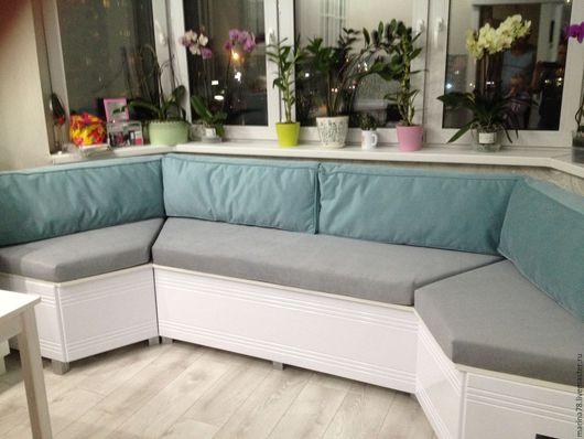 Прихожая ручной работы. Ярмарка Мастеров - ручная работа. Купить подушки для эркерного дивана. Handmade. Эркер, эркерный диван, поролон