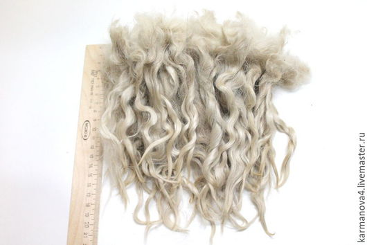 Волосы для кукол (белые, натуральные, немытые) Локоны Кудри для кукол Кудри для кукол купить Волосы для кукол купить Handmade Ярмарка Мастеров