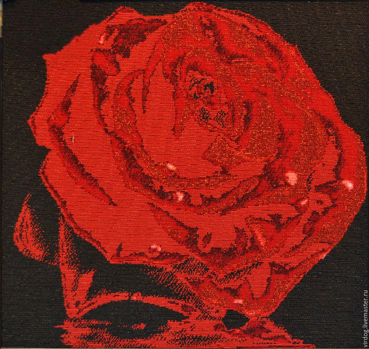 вот транзитом как вышить бисером красно черные розы фото вам