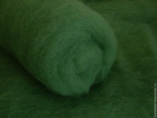 Валяние ручной работы. Ярмарка Мастеров - ручная работа. Купить Болгарский кардочес для валяния, Лесная зелень, 50 грамм. Handmade.