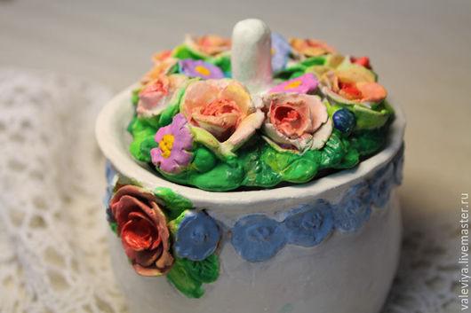 Конфетницы, сахарницы ручной работы. Ярмарка Мастеров - ручная работа. Купить Чайная розочка.. Handmade. Белый, сладкий подарок