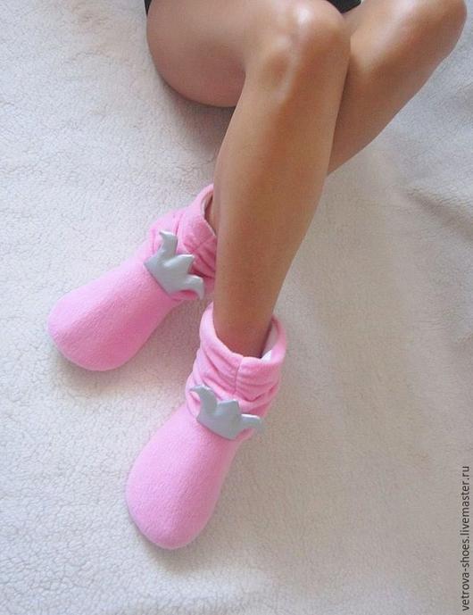 """Обувь ручной работы. Ярмарка Мастеров - ручная работа. Купить Домашние угги """"Принцесса на горошине"""". Handmade. Розовый, домашние сапожки"""