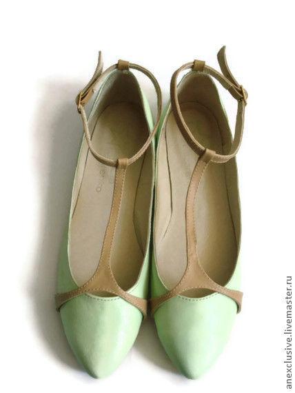 Обувь ручной работы. Ярмарка Мастеров - ручная работа. Купить Мятная свежесть. Handmade. Мятный, туфли из питона