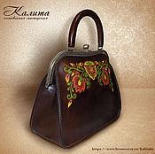 Сумки и аксессуары handmade. Livemaster - original item Leather bag with clasp. Handmade.