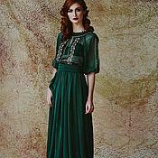 Одежда ручной работы. Ярмарка Мастеров - ручная работа платье вечернее с вышивкой. Handmade.