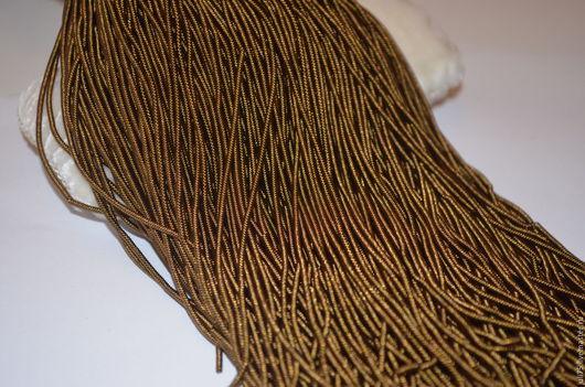 Вышивка ручной работы. Ярмарка Мастеров - ручная работа. Купить Канитель витая, Индия. Handmade. Хаки, канитель, материалы для вышивки