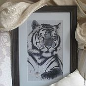 Картины и панно ручной работы. Ярмарка Мастеров - ручная работа Тигр. Handmade.