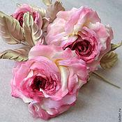 Украшения handmade. Livemaster - original item Silk flowers rose Jean-Pierre. Handmade.