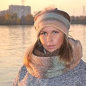 Аксессуары handmade. Livemaster - original item Winter women`s set double hat Snood