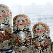 Русский стиль handmade. Livemaster - original item matryoshka, 10 places, Russkaya Troyka. Handmade.