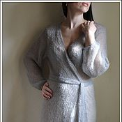 Одежда handmade. Livemaster - original item Knitted mohair cardigan Thaw. Handmade.