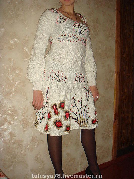 Платья ручной работы. Ярмарка Мастеров - ручная работа. Купить ГОТОВОЕ!!! Платье Рябина на снегу по мотивам KENZO. Handmade. Платье