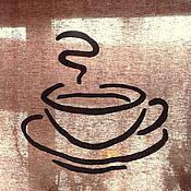 """Для дома и интерьера ручной работы. Ярмарка Мастеров - ручная работа Штора """"Чашка капучино"""". Handmade."""