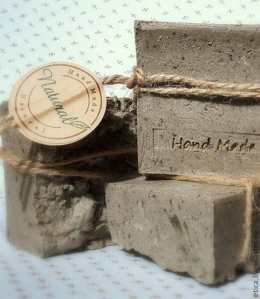 Мыло ручной работы. Ярмарка Мастеров - ручная работа. Купить Натуральное мыло-скраб с грязью Мёртвого моря «ШАЛОМ!». Handmade.