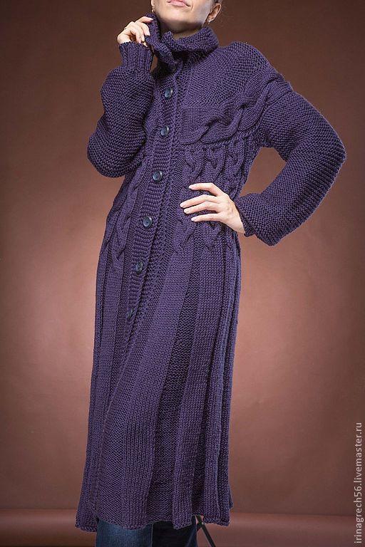 Верхняя одежда ручной работы. Ярмарка Мастеров - ручная работа. Купить пальто  вязаное осеннее. Handmade. Пальто вязаное