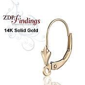 Золото 14К Пара французских замочков для серег  C200082RG
