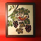 """Картины и панно ручной работы. Ярмарка Мастеров - ручная работа """"Райская птичка"""" Витраж. Handmade."""