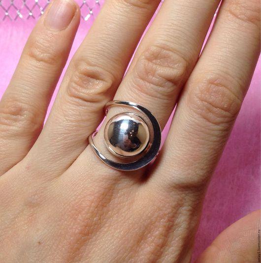 Кольца ручной работы. Ярмарка Мастеров - ручная работа. Купить Кольцо безразмерное шарик серебро. Handmade. Кольцо, серебро 925