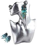 handmade. Livemaster - original item Earrings-ear-stud Sea breeze. Handmade.