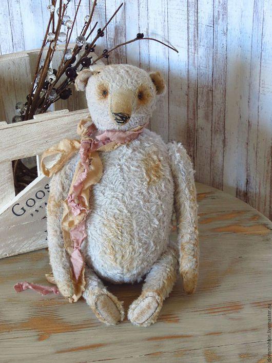 Мишки Тедди ручной работы. Ярмарка Мастеров - ручная работа. Купить Жан. Handmade. Голубой, винтажный мишка, гранулят