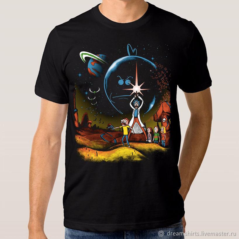 """Футболка хлопковая """"Рик и Морти - Звездные Войны"""", T-shirts, Moscow,  Фото №1"""