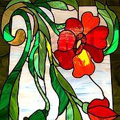 Для дома и интерьера handmade. Livemaster - original item Stained Glass Tiffany. Maki. the stained glass on the window. Stained glass. Handmade.