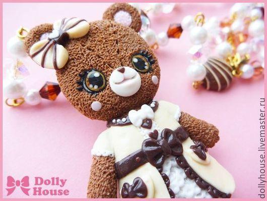 """Колье, бусы ручной работы. Ярмарка Мастеров - ручная работа. Купить Колье """"Angelic Lolita Bear"""". Handmade. Dolly house"""