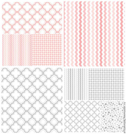 Шитье ручной работы. Ярмарка Мастеров - ручная работа. Купить Базовая коллекция Sorbets (Carnation Pink, Soft Gray). Handmade.