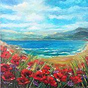 Картины и панно handmade. Livemaster - original item Painting Original painting Poppies. Handmade.